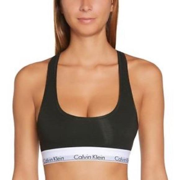 393ff9901a0ba Calvin Klein Other - EUC Calvin Klein Black Modern Cotton Racerback Bra